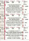 2 Zac Brown Band Tickets 5/12/17 Verizon Amphitheatre Atlanta GA Parking