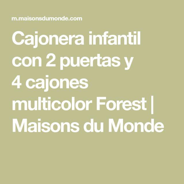 Cajonera infantil con 2puertas y 4cajones multicolor Forest | Maisons du Monde