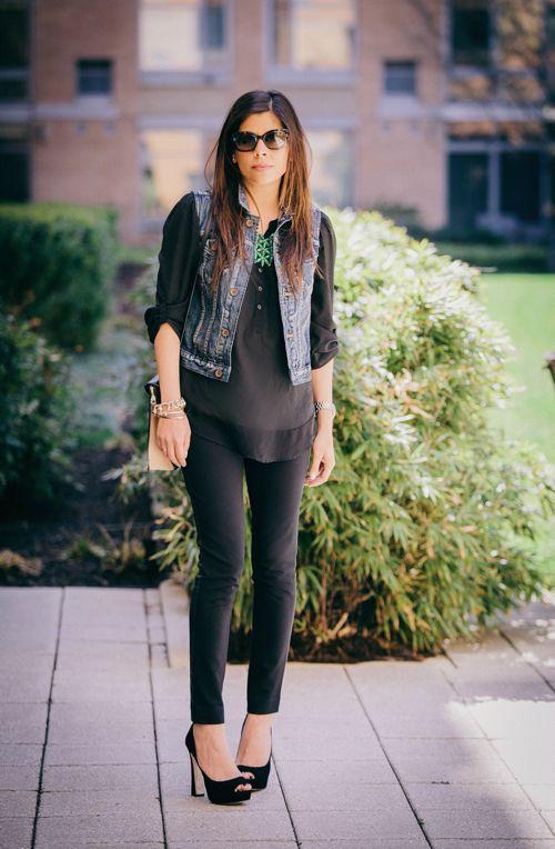 A denim vest is a great year round wardrobe staple | STYLE'N