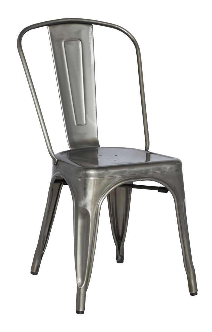 kitchen chairs gun metal amazon kitchen chairs Chintaly Imports Galvanized Steel Side Chair with Set of 4 Gun Metal