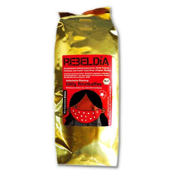 210 -- Bio-Espresso RebelDía, 500g ganze Bohne