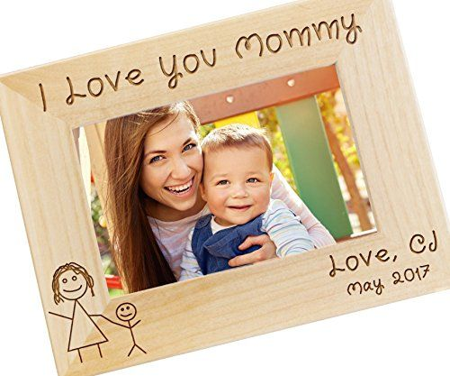 Personalized+I+Love+Mommy+Picture+Frame+–+Mothers+Day+Gift,+Gifts+for+Mom,+New+Mom+Gift,+Custom+Engraved+Photo+Frame+–+WF11
