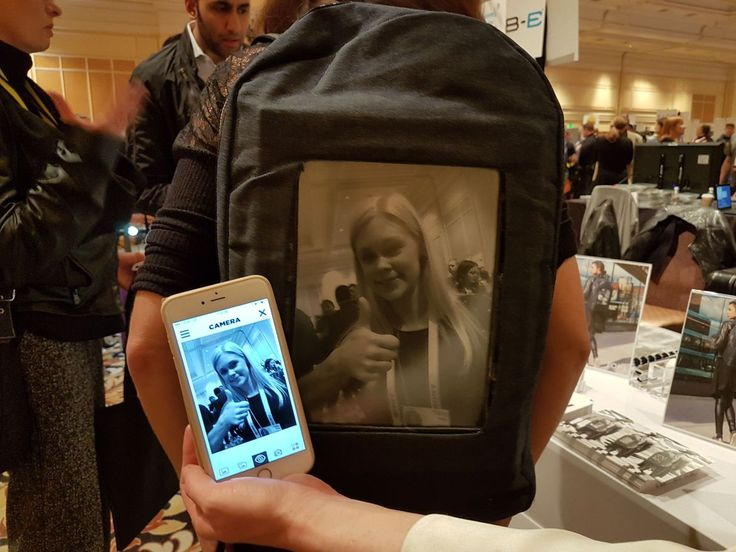 Pop-I backpack Because you've always wanted to walk around with a black-and-white image of yourself on your backpack.  Surprisingly, the price isn't bad: Despite having to stuff a 10-inch e-ink screen and the electronics inside, the Pop-I backpack will cost as little as $99 when it launches in the US this spring.