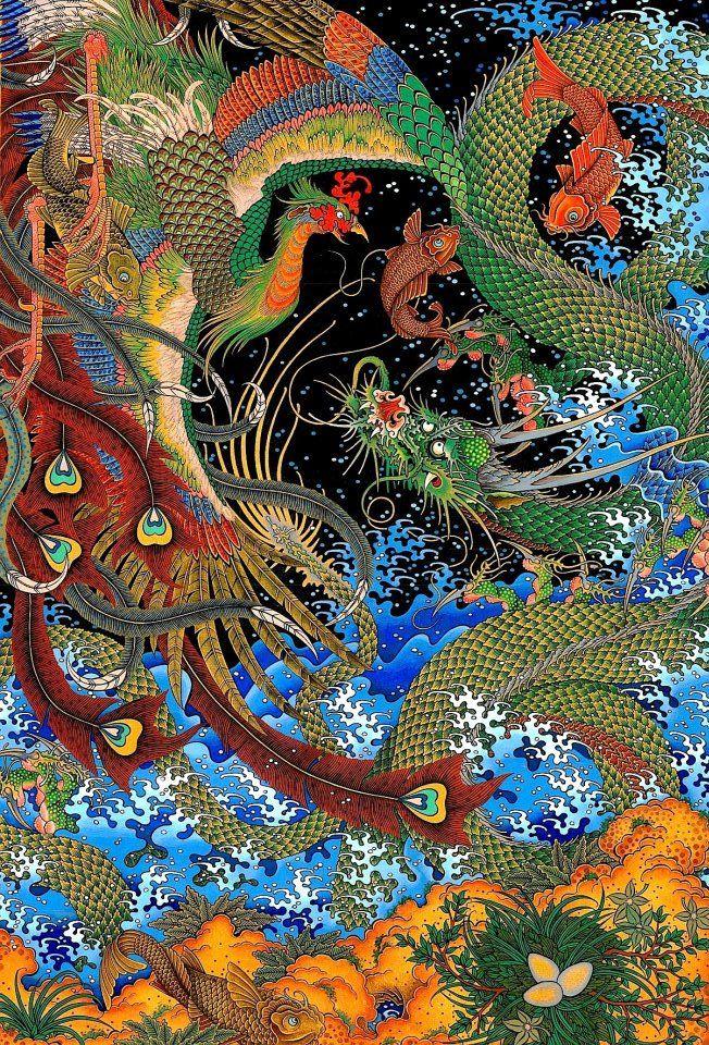 A beautiful example of the art of mongolian painter Zayasaikhan Sambuu