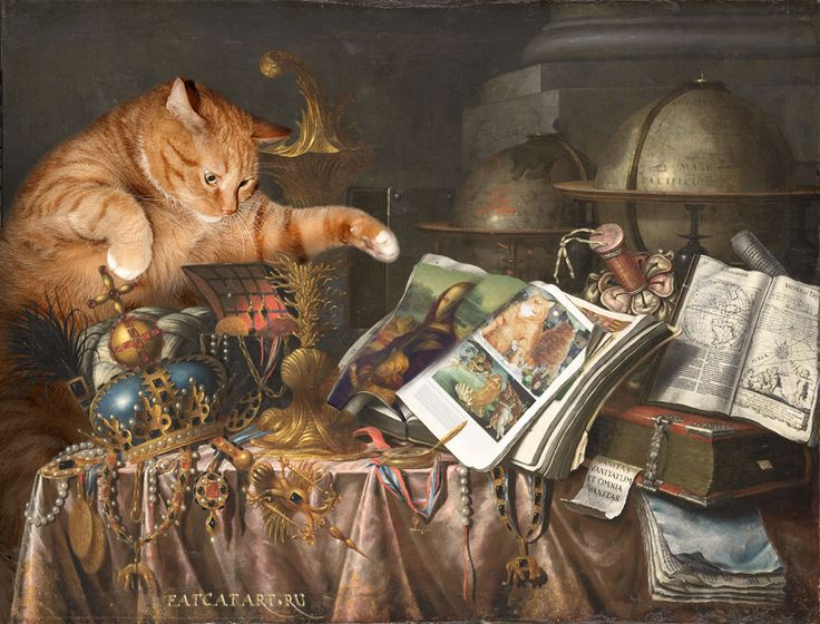 Edwaert Collier, Vanitas: The Cat and the CATalogue