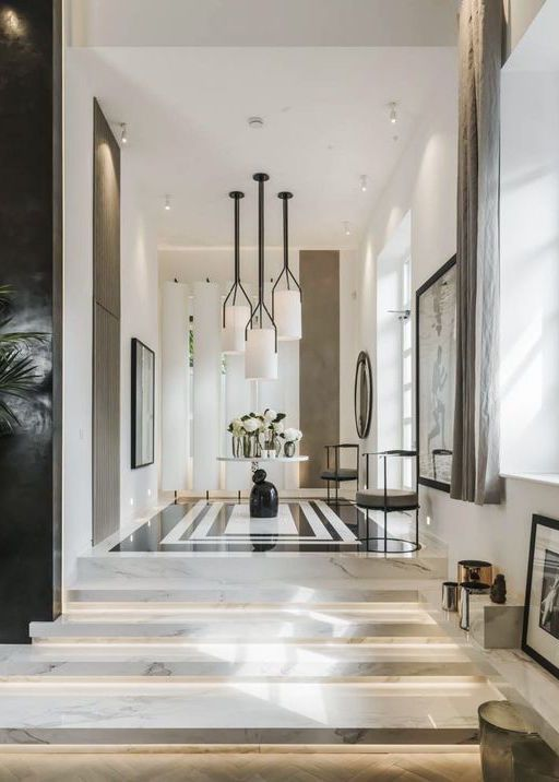37 best images about foyer on pinterest entryway ideas entrance and entryway - Amazing private house design with luxurious swirly white staircase ...