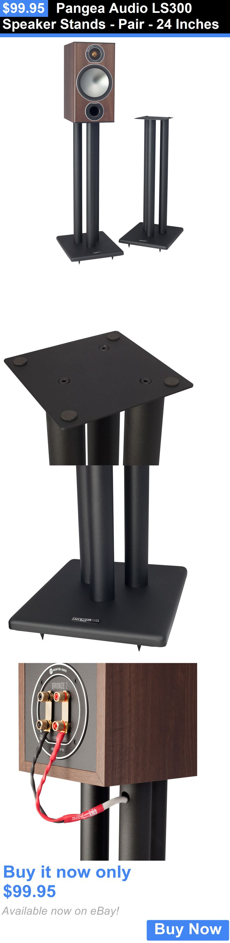 Speaker Mounts and Stands: Pangea Audio Ls300 Speaker Stands - Pair - 24 Inches BUY IT NOW ONLY: $99.95