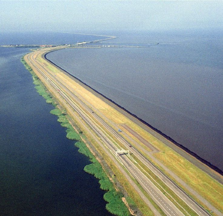 Afsluitdijk, Den Oever, Nederland. A Dutch saying goes: God created the earth and the Dutch created Holland.