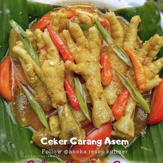 Ceker Garang Asem Resep Ayam Ayam Resep