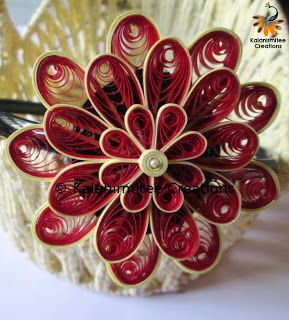 Quilled flowers for hairbands - Visit http://www.kalanirmitee.com