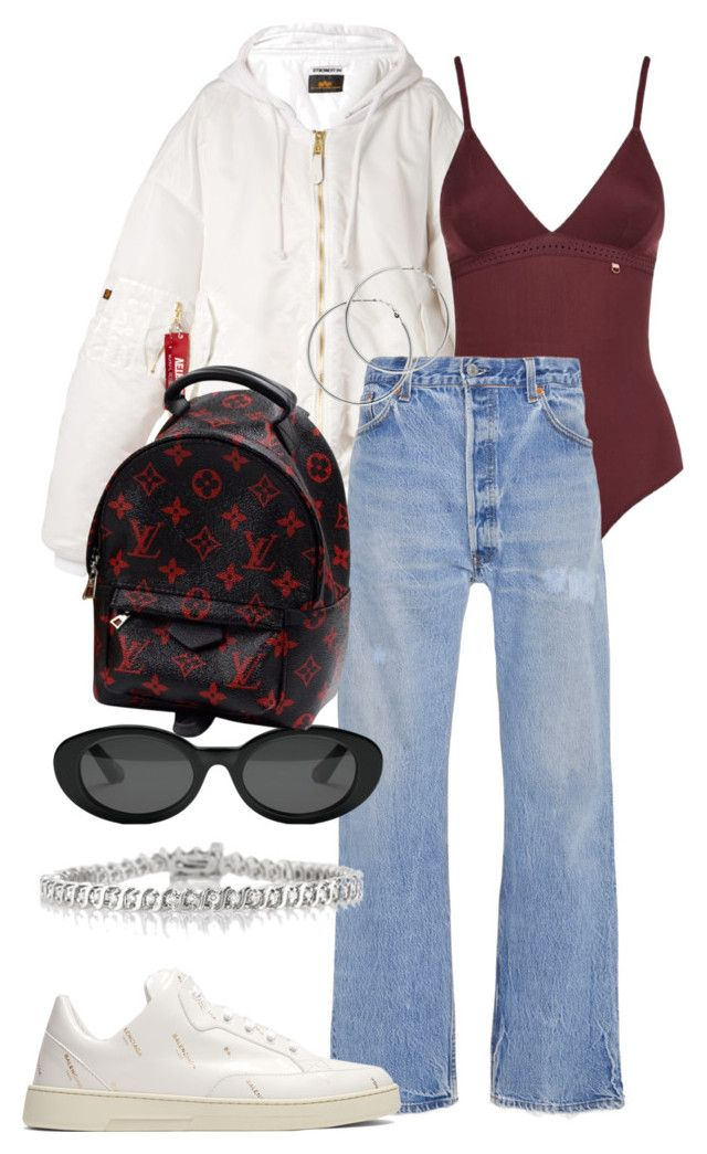"""""""Look:#564"""" by dollarwomanlux ❤ liked on Polyvore featuring Vetements, Elle Macpherson Body, RE/DONE, Elizabeth and James, Balenciaga, Louis Vuitton, Mark Broumand and Melissa Odabash"""