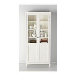 HEMNES Cabinet with panel/glass door - white stain - IKEA -- storage option for bedroom! $300