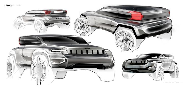 Jeep Sketch Project on Behance
