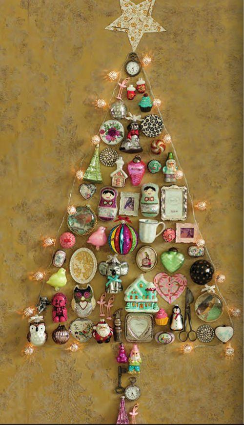 @heart Handmade UK: Christmas decoration wall tree from Lisbeth Dahl