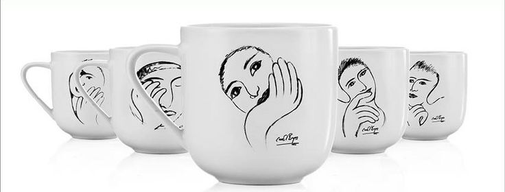Carrol Boyes Mugs from her Sketchbook range http://www.carrolboyes.co.uk/CaRRoL-BoYeS-MUG-wishful-thinking-0P-MG-WT/