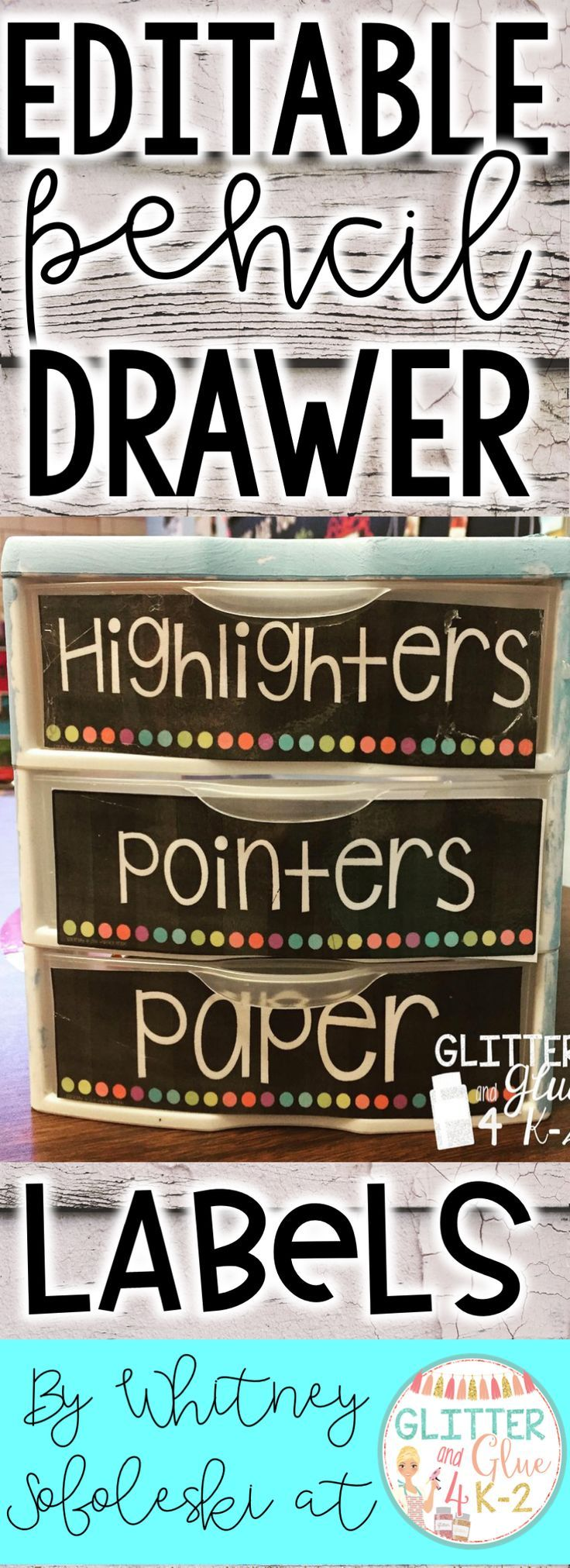 Jazz up and organize your writing center with these fun labels for your drawers! Go back to school organized! Keywords: classroom décor, classroom organization, writing center, pencil management, classroom inspiration, classroom management, kindergarten, first grade, second grade, writing, back to school