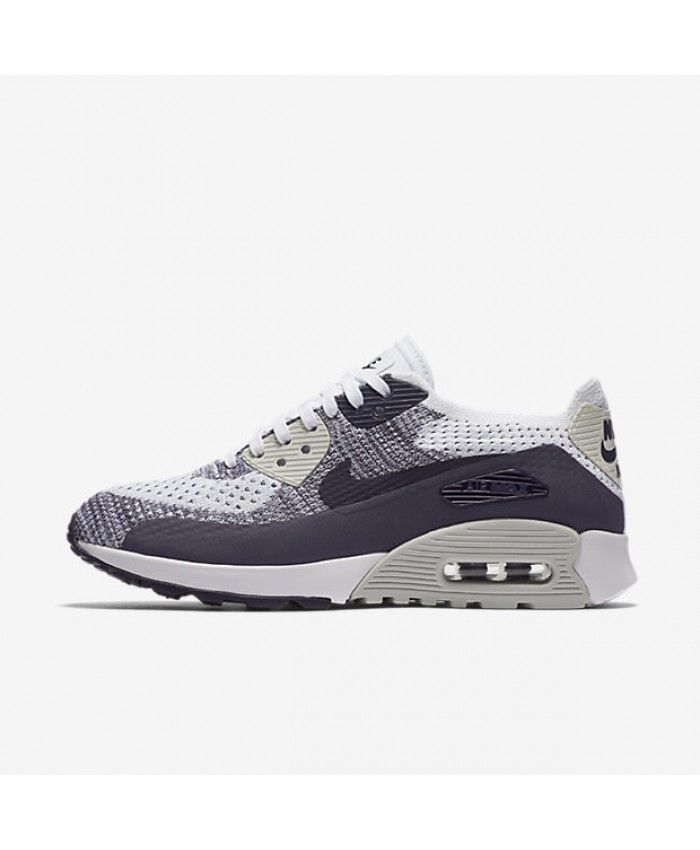 Nike Air Max 90 Ultra 2.0 Flyknit White Purple Dynasty Light