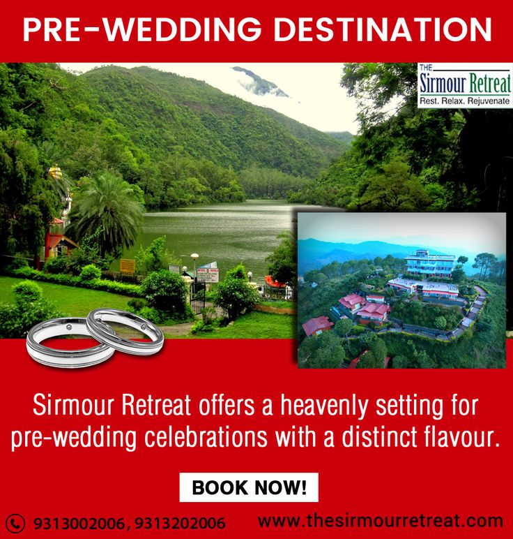 The Sirmour Retreat is a perfect destination for #PreWedding💃 #Celebrations. They offer a heavenly setting with a #DistinctFlavour.😊 Visit👉 https://goo.gl/TNUzpm