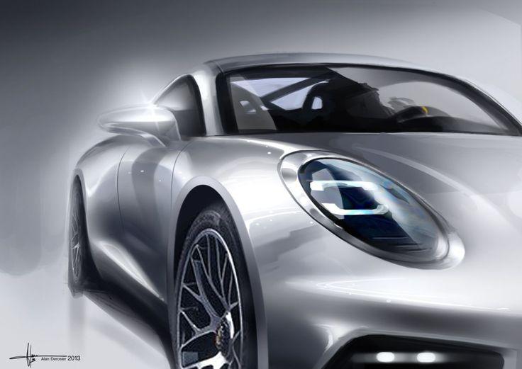 Porsches Car design sketching