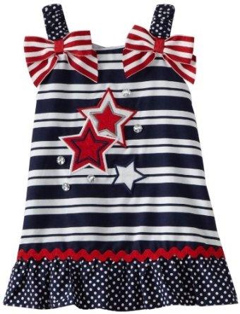 Pusat Baju Bayi Branded Grosir - Youngland Bayi-Bayi perempuan bintang A-Line Gaun | Pusat Baju Bayi Terbesar dan Terlengkap Se indonesia
