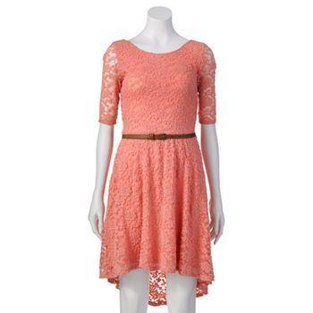 Rewind Lace Hi-Low Dress - Juniors #Kohls | Clothes- Dresses ...
