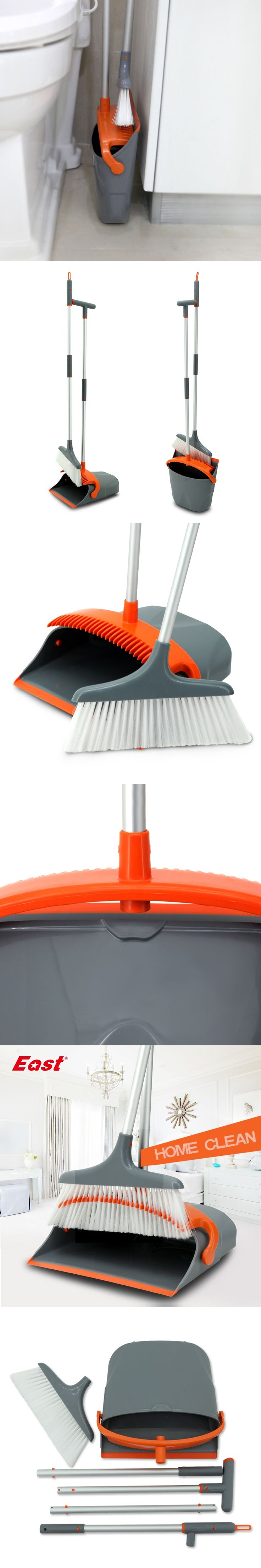 East New Fashion Luxury Broom Dustpan Combination Set Foldable Cleaning Tools House Helper