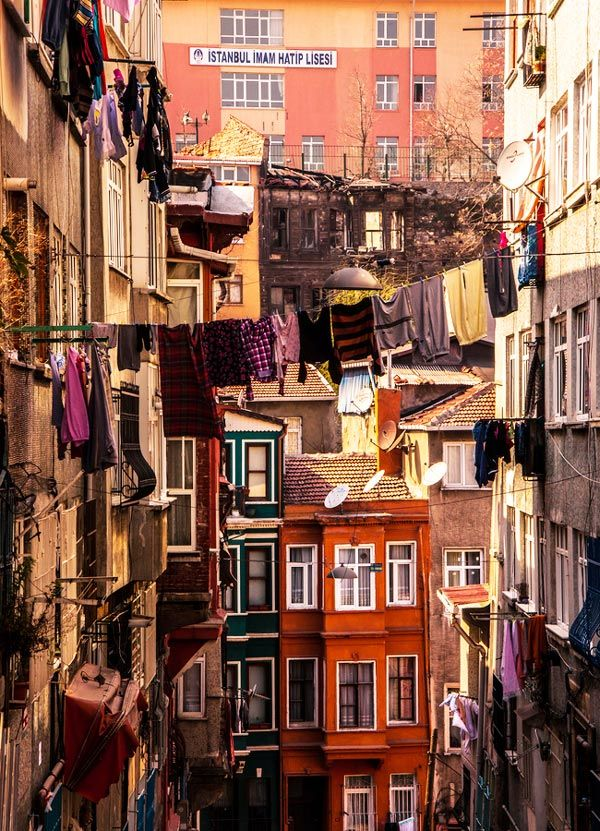 Balat, Turkey – the traditional Jewish quarter in the Fatih district of Istanbul.