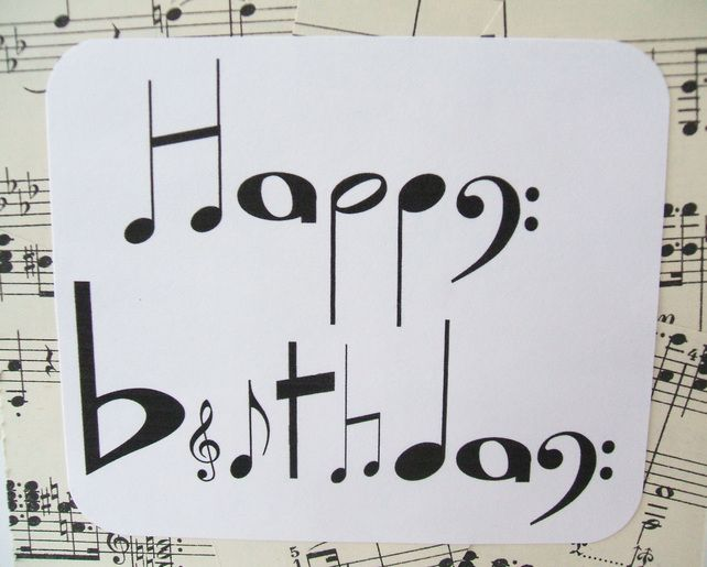 Sale Musical Notes Birthday Card Chlef Musical Birthday Cards Happy Birthday Cards Handmade Birthday Card Sayings