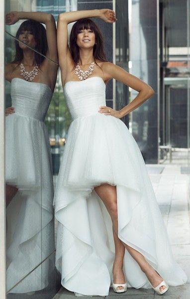 Lis Simon Wedding Dresses Photos on WeddingWire Farrah Strapless