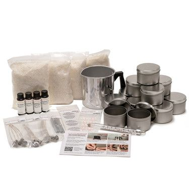 New to candle making?   Start with a Soy Candle Making Kit! Our Soy Candle Making Kit has everything you need to make your own natural soy wax candles. Whether you want to start a new hobby or a home based candle business, this is the ideal kit to get you started.  No experience necessary! Our simple, step-by-step instructions will guide you through the whole process. Each kit contains enough materials to make a total of 12 candles (3 candles of each scent).   Instructional Video Guide…