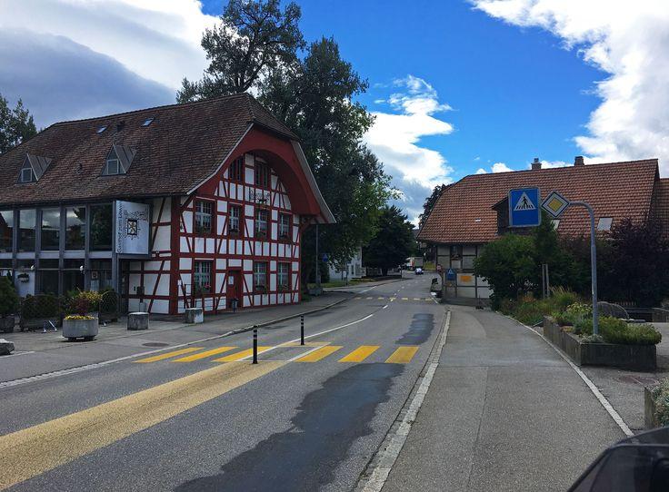 Passing through the village Jegenstorf in Switzerland