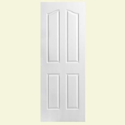Masonite 30 In X 80 In Solidoor Textured 4 Panel Arch Top Solid Core Primed Composite Interior Door Slab 24973 The Home Depot Prehung Interior Doors Masonite Interior Doors For Sale