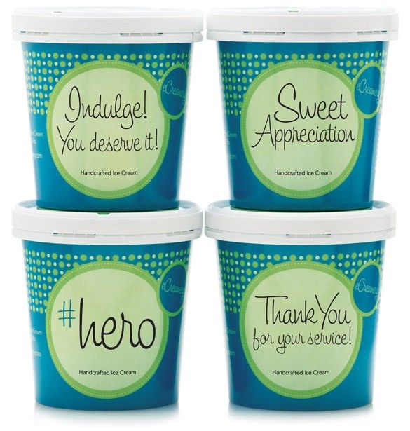 Military Appreciation Premium Collection- What better way to say thank you for your service, then by sending ice cream? Four pints of delicious gourmet ice cream flavors, each named with a special Military Appreciation title. Each flavor is made with the finest of specialty ingredients, sure to delight all ice cream lovers. #ecreamery #icecream #appreciation