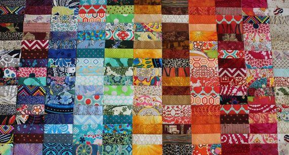 100pc Colorful Fabric 4x4 Charm Square Scrappy Bundles