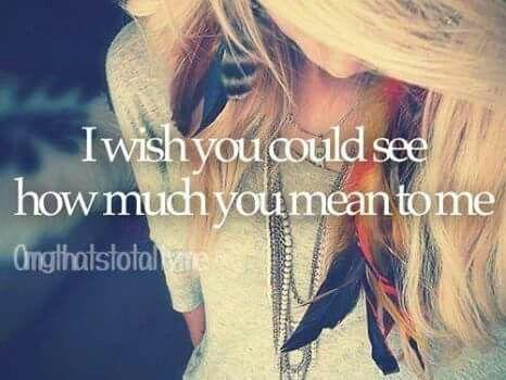 °me gustaria que pudieras ver Lo mucho que significas para mi ♡°