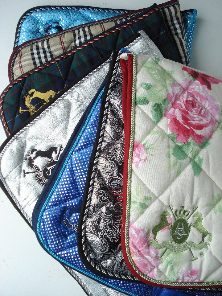 Pretty Saddle Pads by royal horse outlet. Want them all!