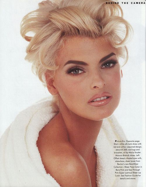 A towel or robe, very glam hair and makeup….Linda Evangelista by Francesco Scavullo -1991