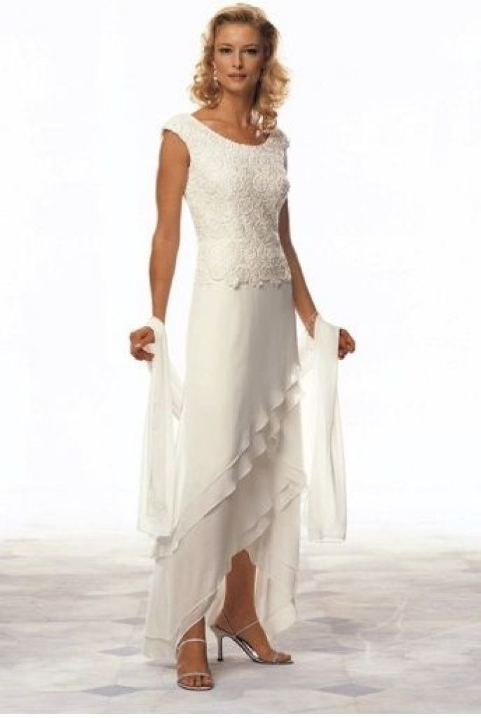 Casual wedding dresses for older brides when the princess for Wedding dress for casual wedding