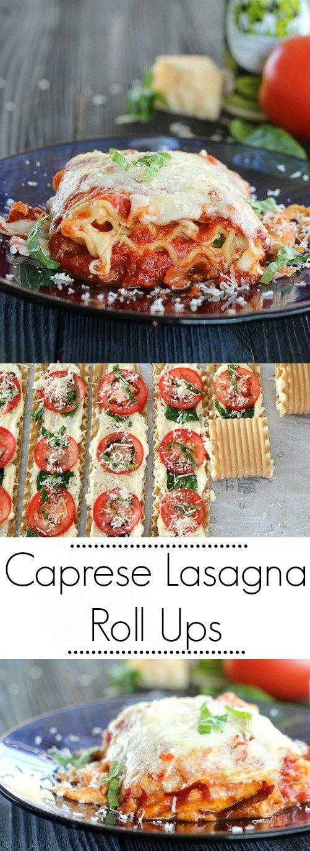 Caprese Lasagna Roll Ups are super fresh and super fast.