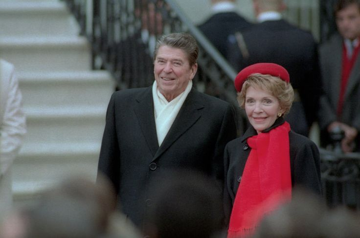 1/10/1984 President Reagan and Nancy Reagan await the arrival of Premier Zhao Ziyang of China at the White House Diplomatic Entrance | by levanrami
