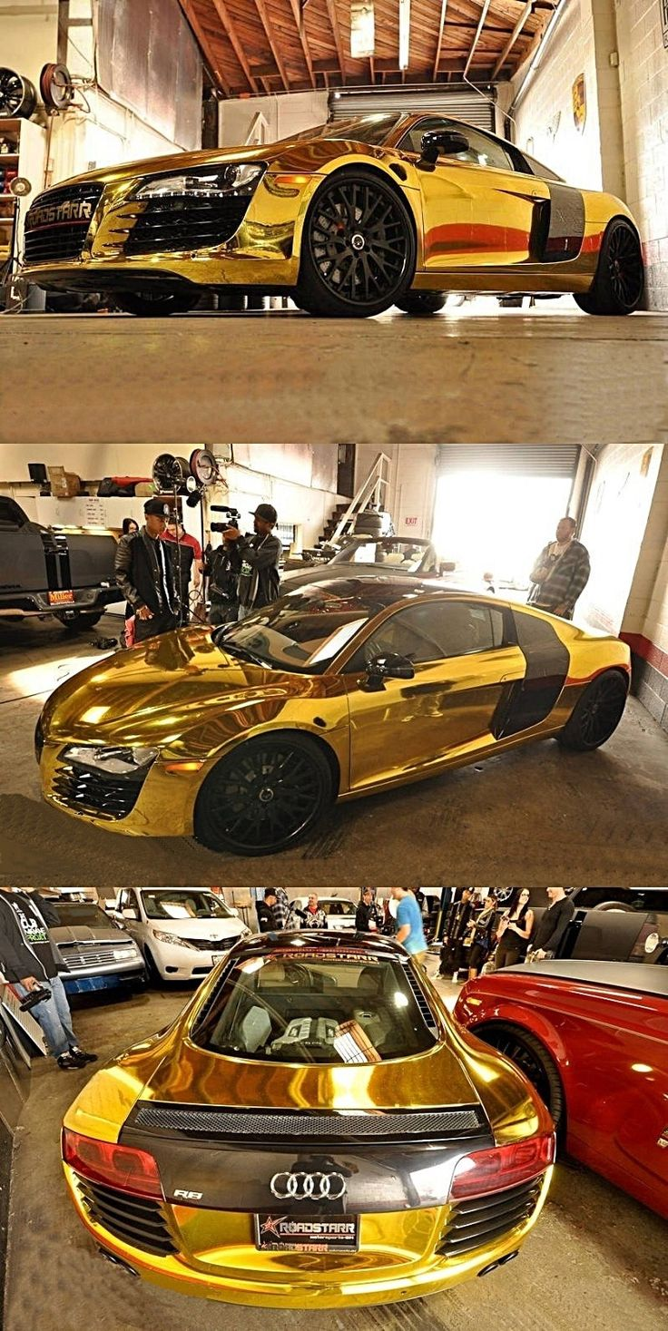 Solid gold Audi r8