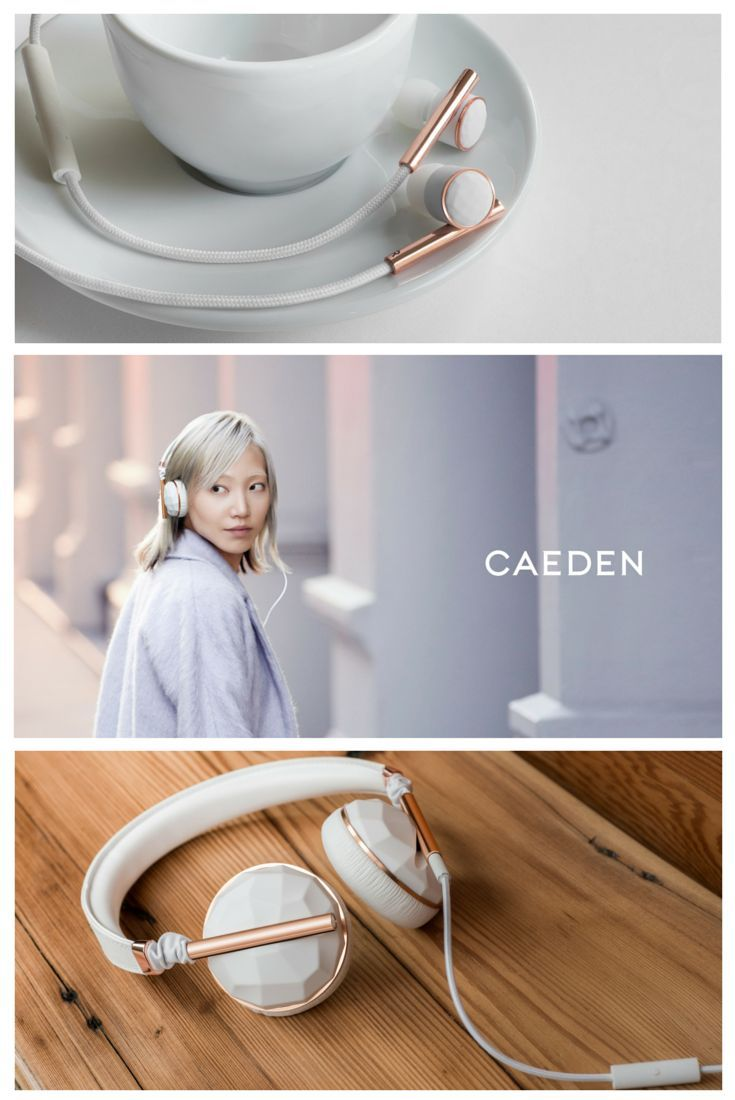 Premium sound and comfort. Faceted ceramic and rose gold headphones are now available from Caeden. Explore the entire collection and get free US shipping.