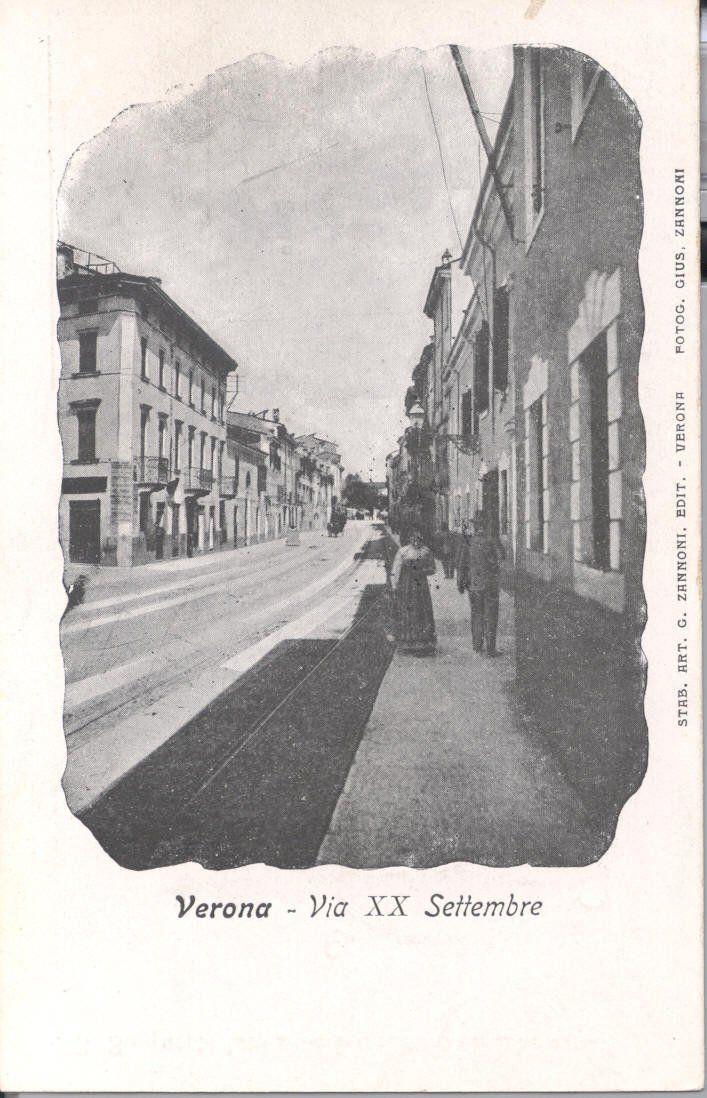 Verona - via xx settembre nei primissimi anni del 1900.