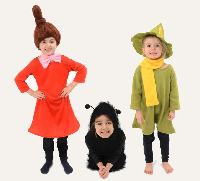 Lovely Little My, Snufkin and Stinky costumes from Novelty partner.