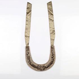 #KUNST Grey #necklace. Beautiful handmade ruffle necklace  made of cotton twill fabric with stone work. #BollywoodandFashion: Handmade Ruffles, Cotton Twill, Beautiful Handmade, Twill Fabrics, Grey Necklaces, Stones Work, Art House, Kunst Grey, Ruffles Necklaces