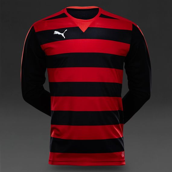 Puma Hoop LS Jersey - Puma Red-Black