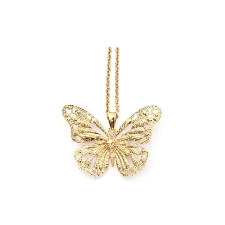 ALEXANDER MCQUEEN|Jewelry|Butterfly Skull Pendant