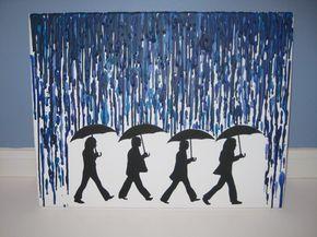The Beatles Rain  Melted Crayon Artwork by RetroSpectrum86 on Etsy, $30.00