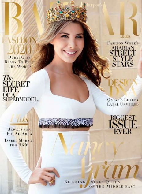 Nancy Ajram in Harper's Bazaar Arabia!