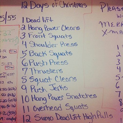 What is your CrossFit Box doing for Christmas?  12 Days of Christmas WOD is the perfect way to celebrate!  www.thewodlife.com.au